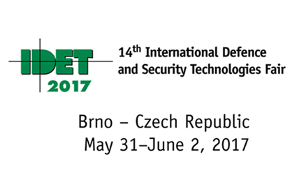 IDET 2017 International Defence Security Technologies Fair in the Czech republic