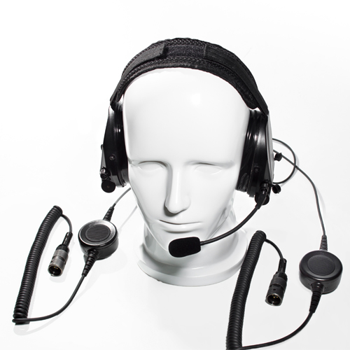 Dual communication tactical hearing protective headset