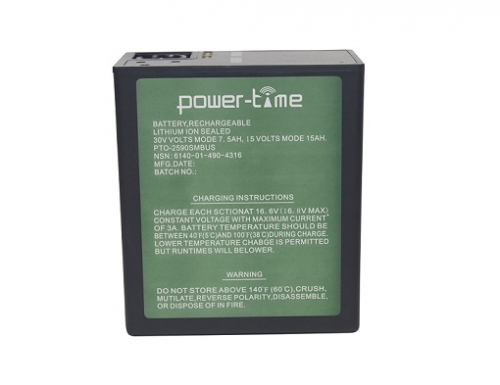 BB-2590/U Li-ion battery with SMBUS high capacity